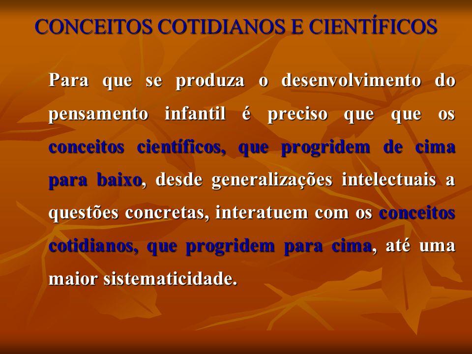 CONCEITOS COTIDIANOS E CIENTÍFICOS