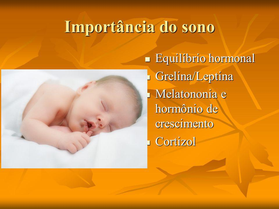 Importância do sono Equilíbrio hormonal Grelina/Leptina