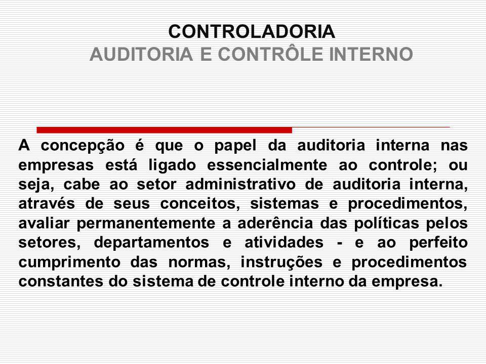 controladoria auditoria e contr le interno ppt carregar