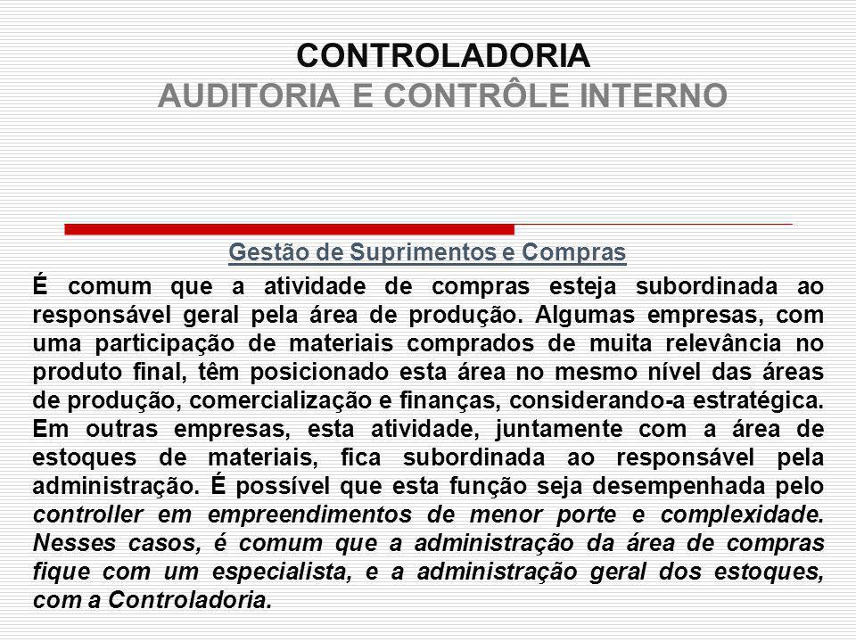 CONTROLADORIA AUDITORIA E CONTRÔLE INTERNO