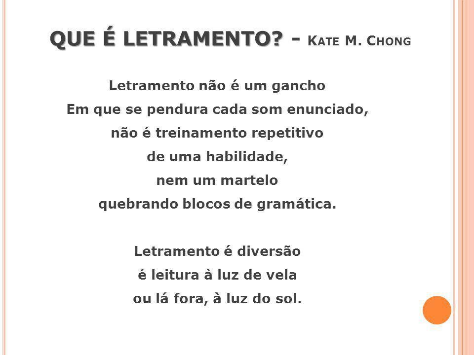 QUE É LETRAMENTO - Kate M. Chong