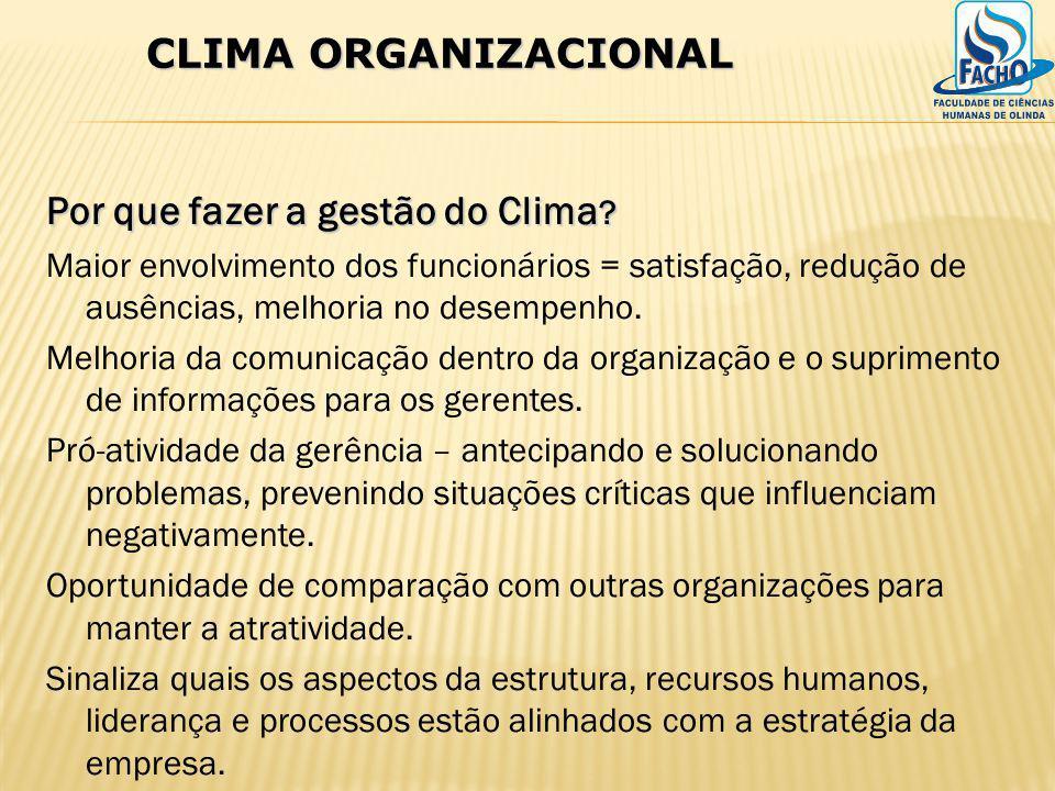 Por que fazer a gestão do Clima