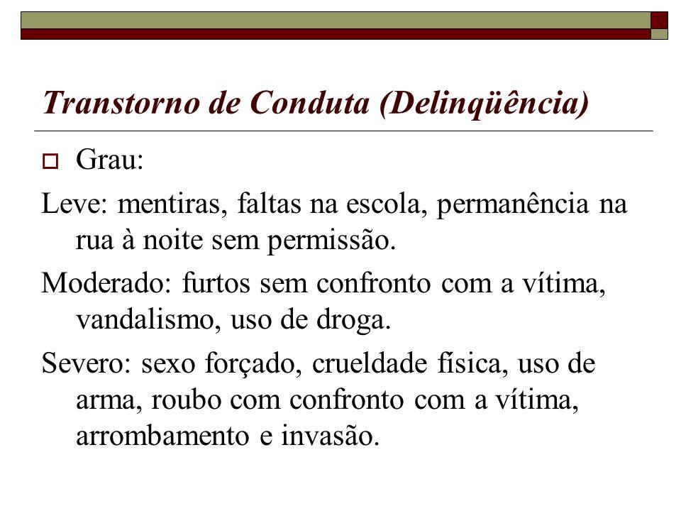 Transtorno de Conduta (Delinqüência)