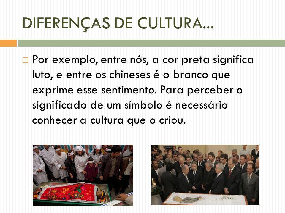 DIFERENÇAS DE CULTURA...