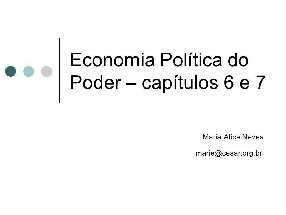 Economia Política do Poder – capítulos 6 e 7