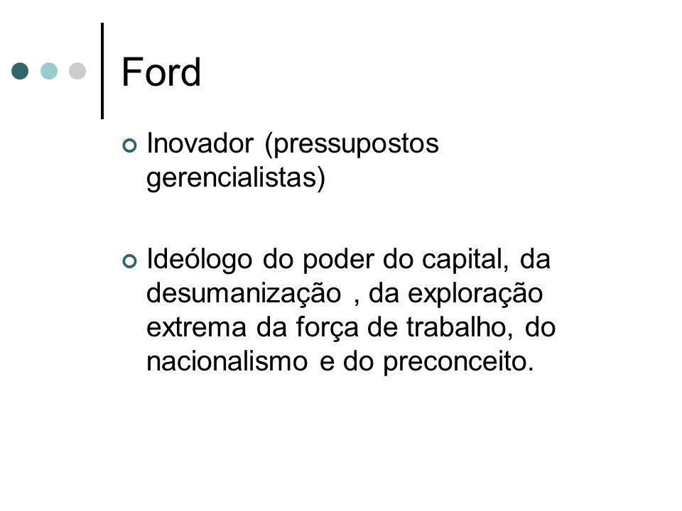 Ford Inovador (pressupostos gerencialistas)