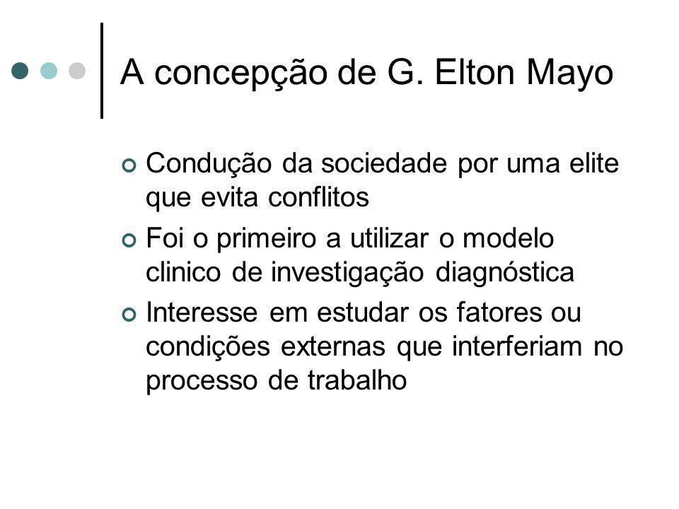 A concepção de G. Elton Mayo