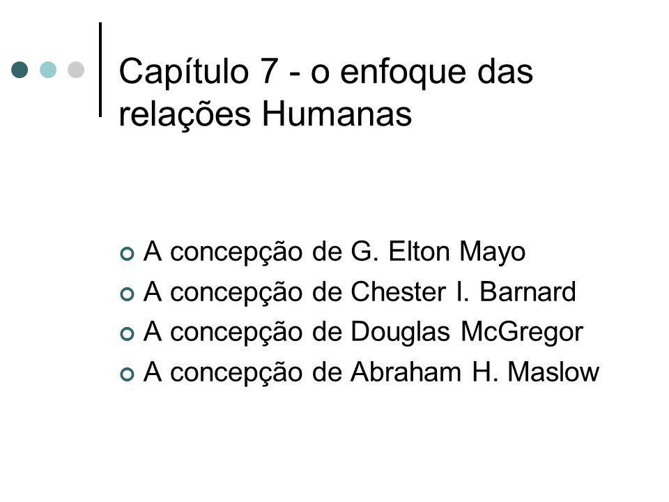Capítulo 7 - o enfoque das relações Humanas