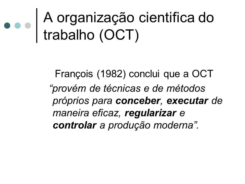 A organização cientifica do trabalho (OCT)