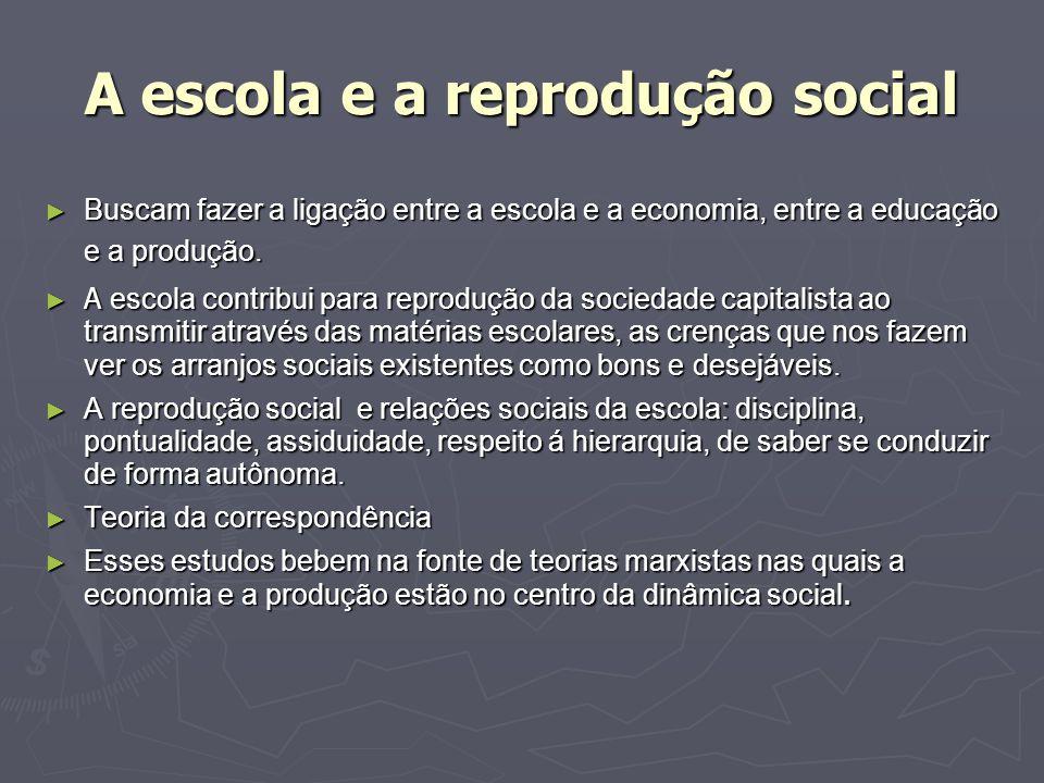 A escola e a reprodução social