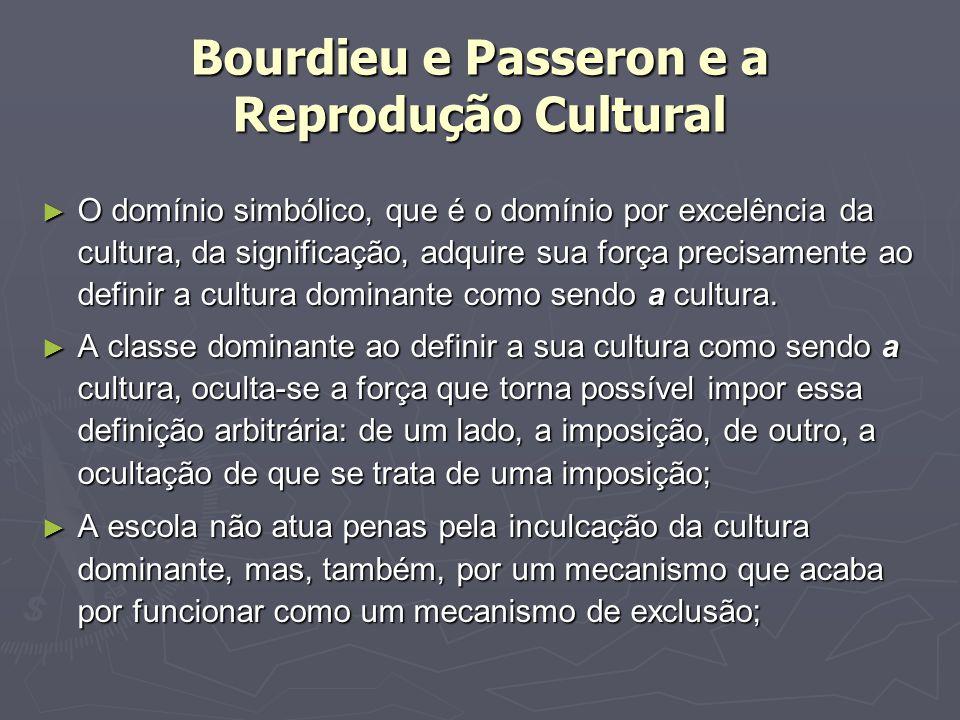 Bourdieu e Passeron e a Reprodução Cultural