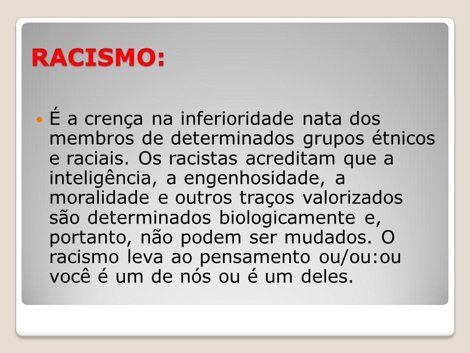 RACISMO: