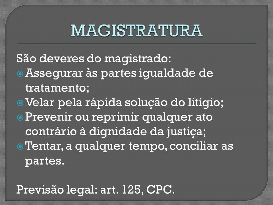 MAGISTRATURA São deveres do magistrado: