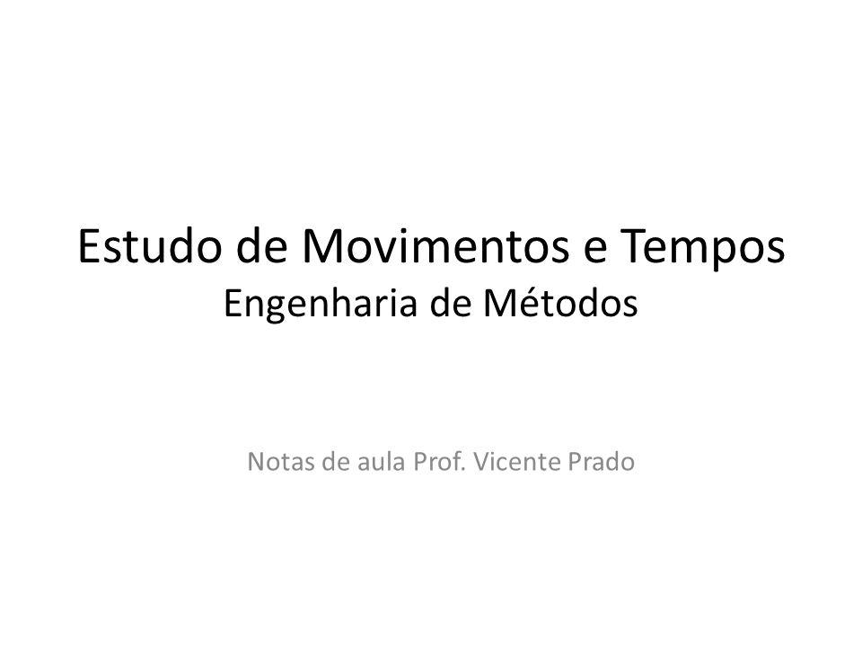 Estudo de Movimentos e Tempos Engenharia de Métodos