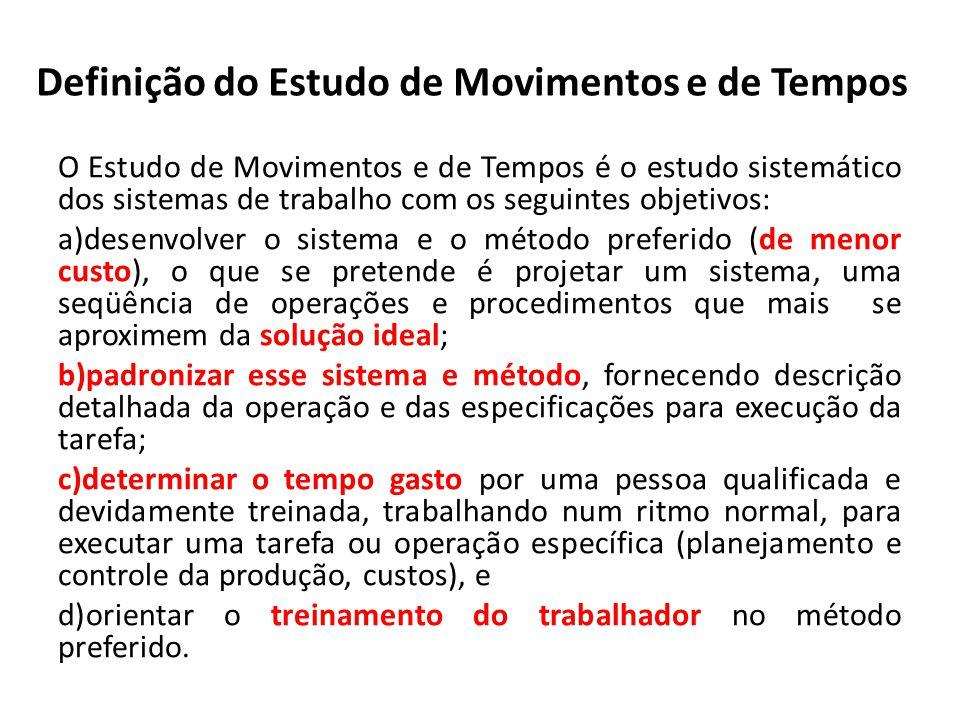Definição do Estudo de Movimentos e de Tempos