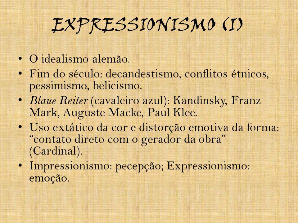 EXPRESSIONISMO (I) O idealismo alemão.