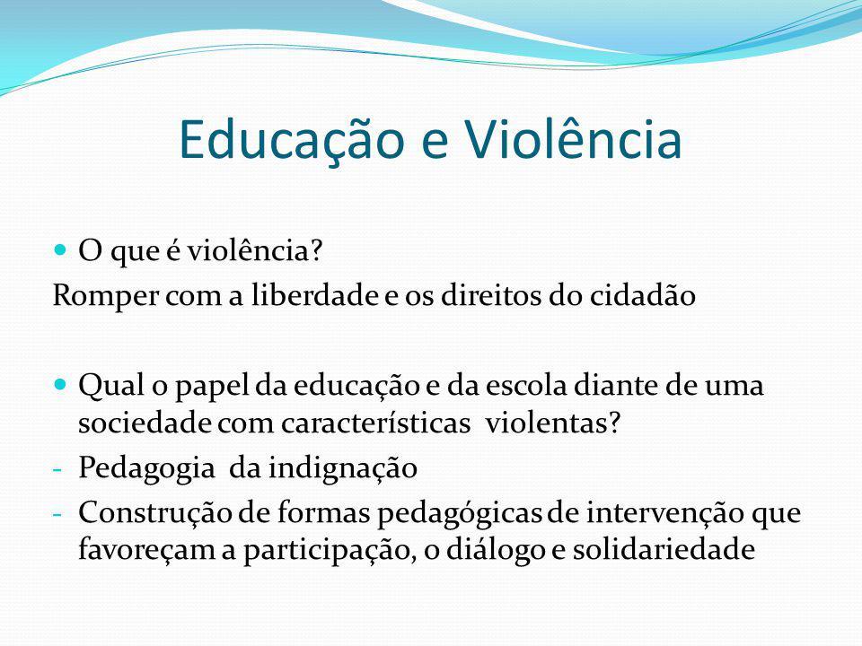 Educação e Violência O que é violência