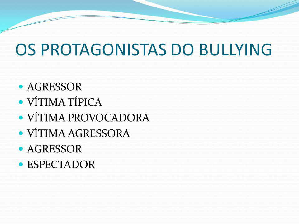 OS PROTAGONISTAS DO BULLYING