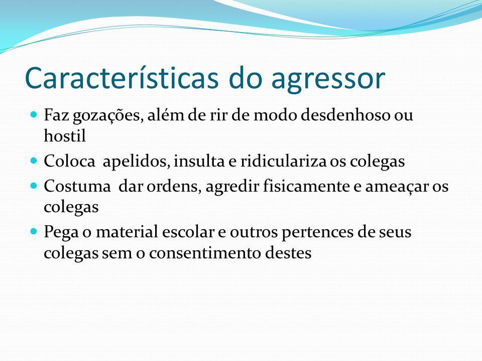 Características do agressor