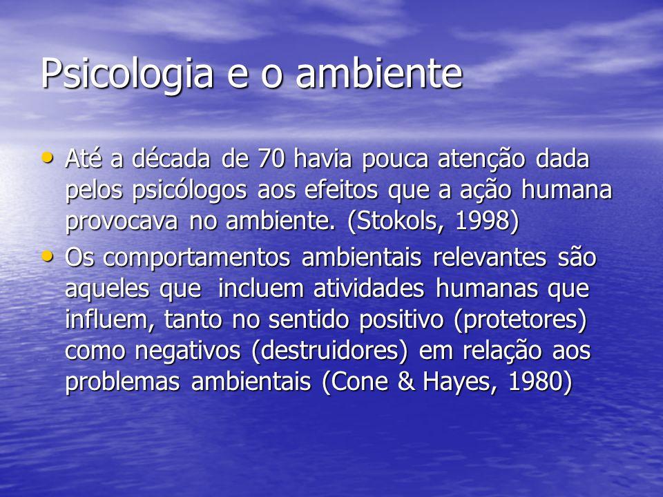 Psicologia e o ambiente