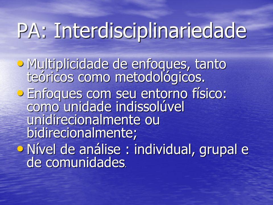 PA: Interdisciplinariedade