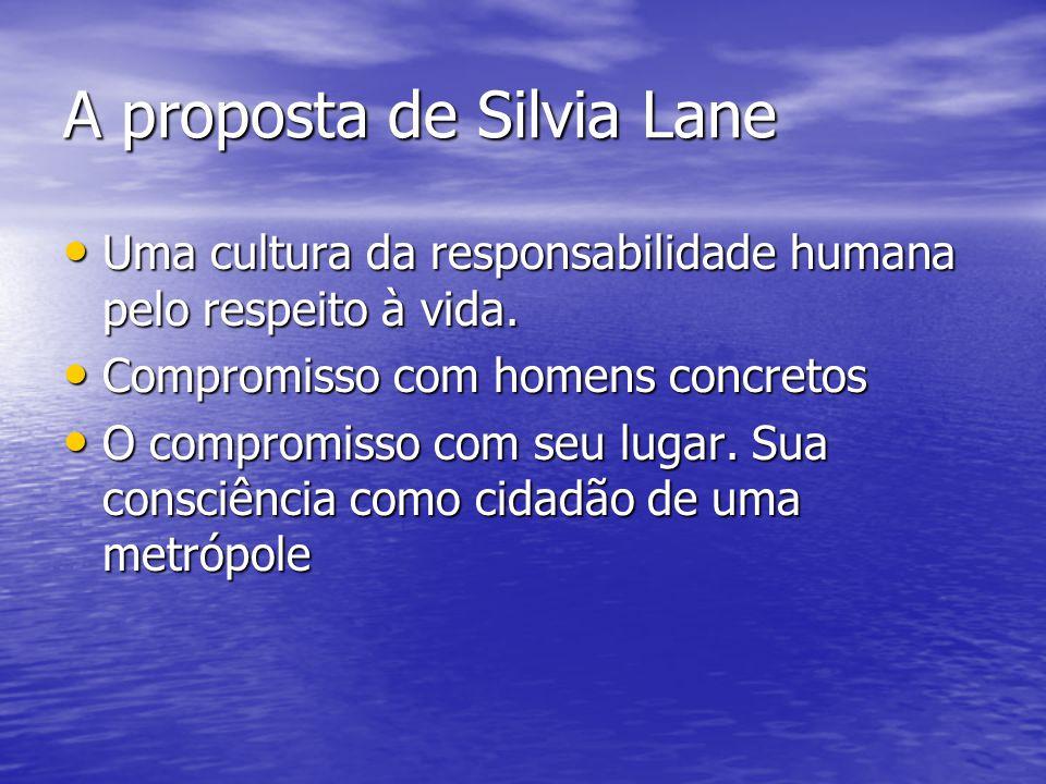 A proposta de Silvia Lane