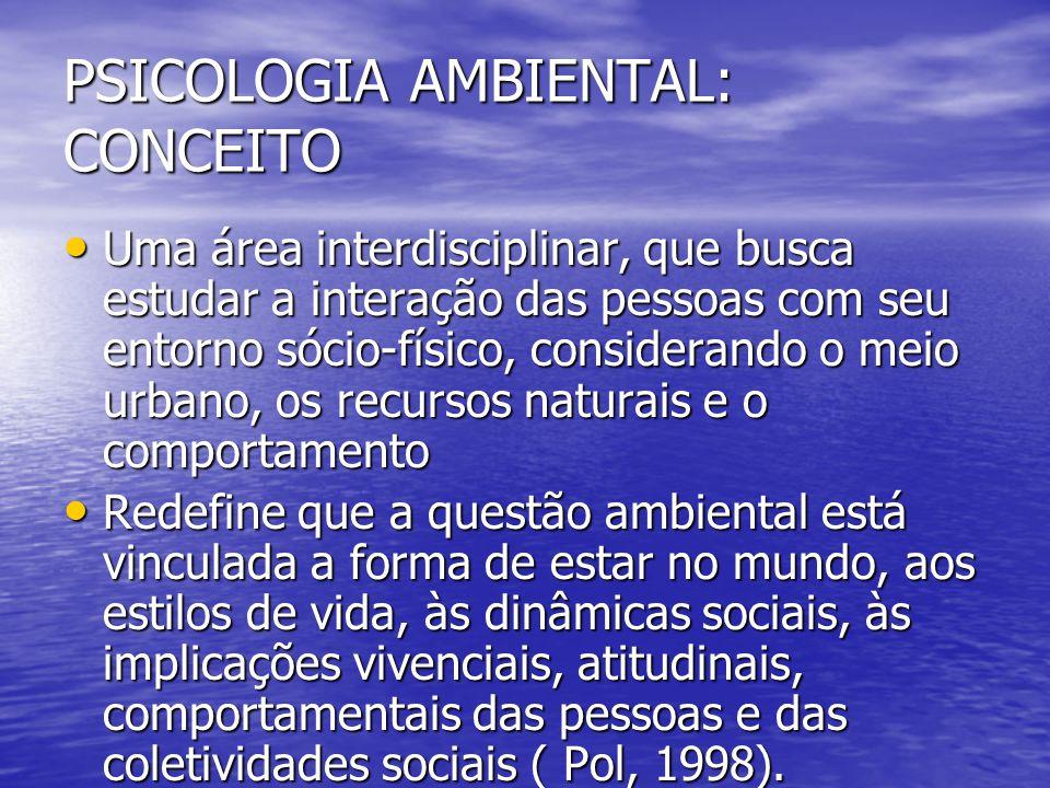 PSICOLOGIA AMBIENTAL: CONCEITO