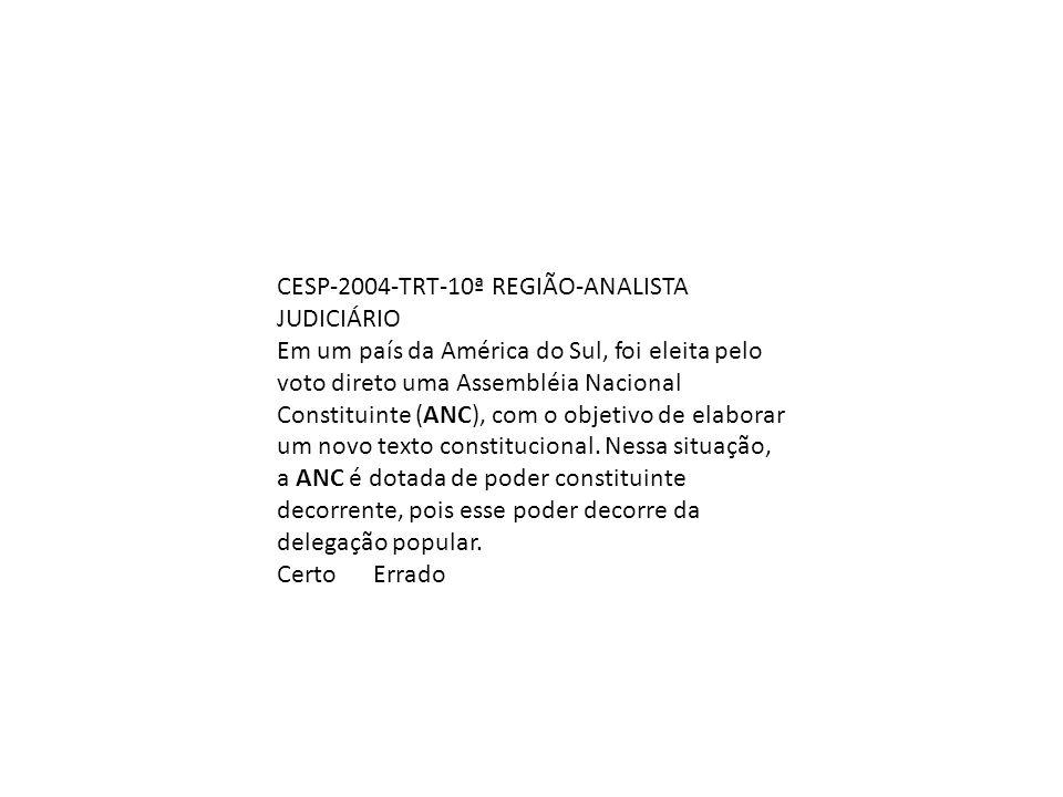 CESP-2004-TRT-10ª REGIÃO-ANALISTA JUDICIÁRIO