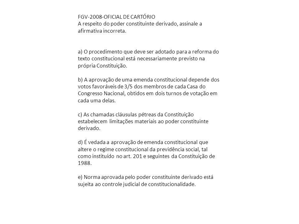 FGV-2008-OFICIAL DE CARTÓRIO