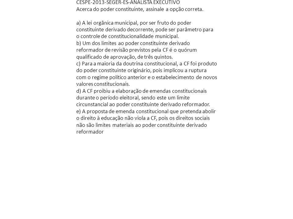 CESPE-2013-SEGER-ES-ANALISTA EXECUTIVO