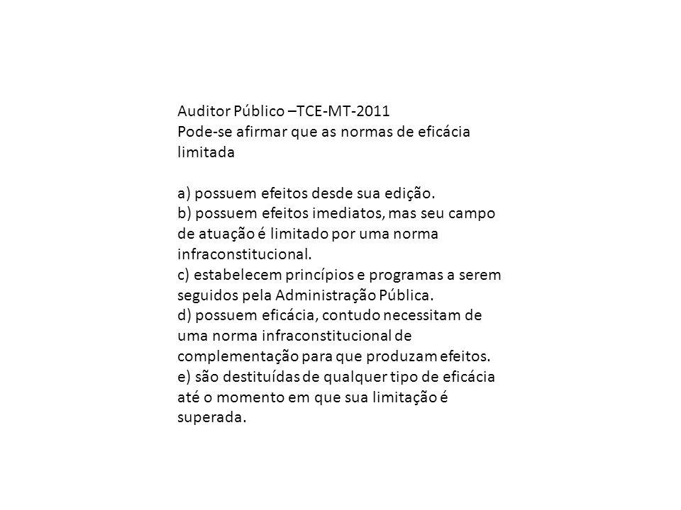 Auditor Público –TCE-MT-2011