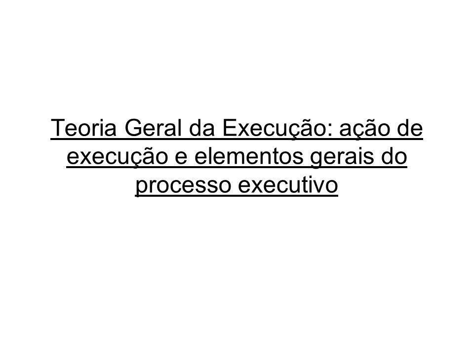 Teoria Geral da Execução: ação de execução e elementos gerais do processo executivo