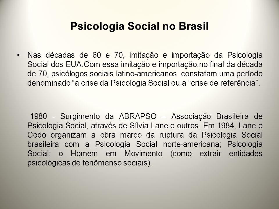 Psicologia Social no Brasil