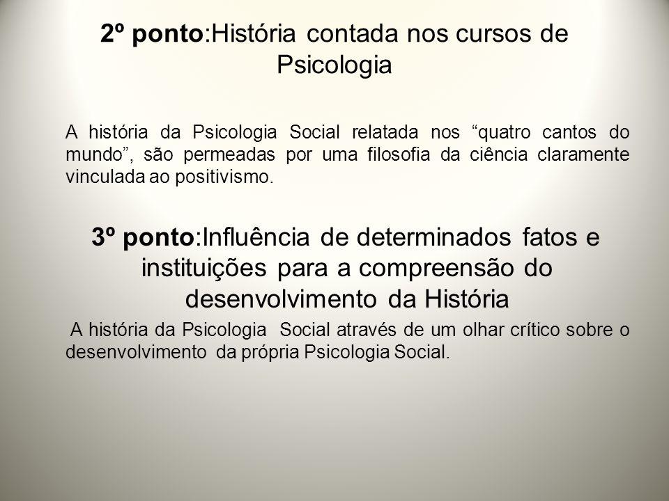 2º ponto:História contada nos cursos de Psicologia