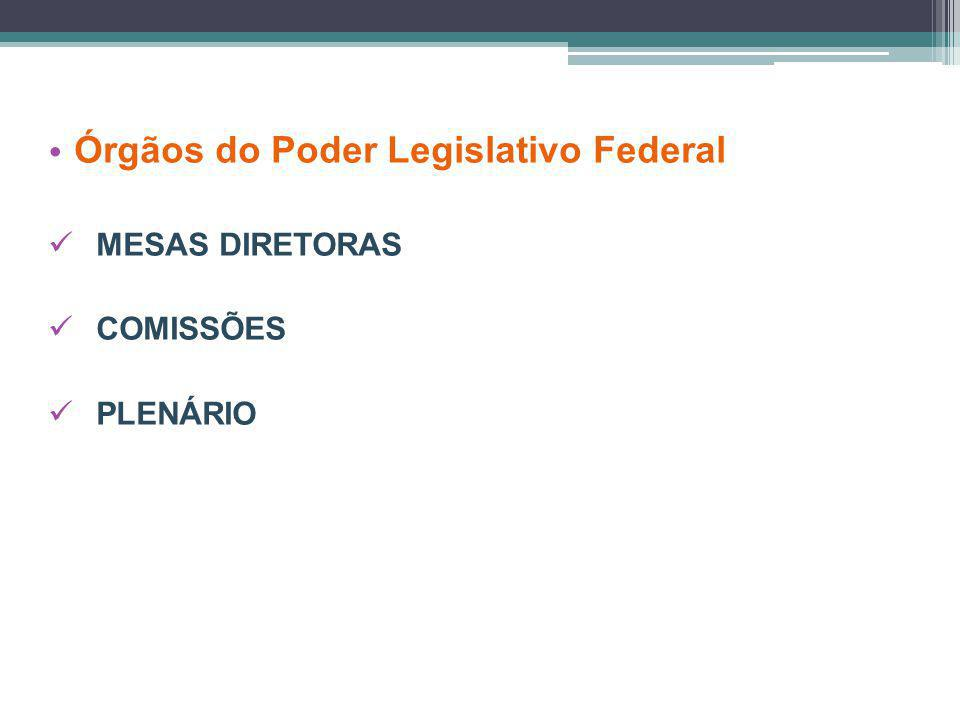 Órgãos do Poder Legislativo Federal
