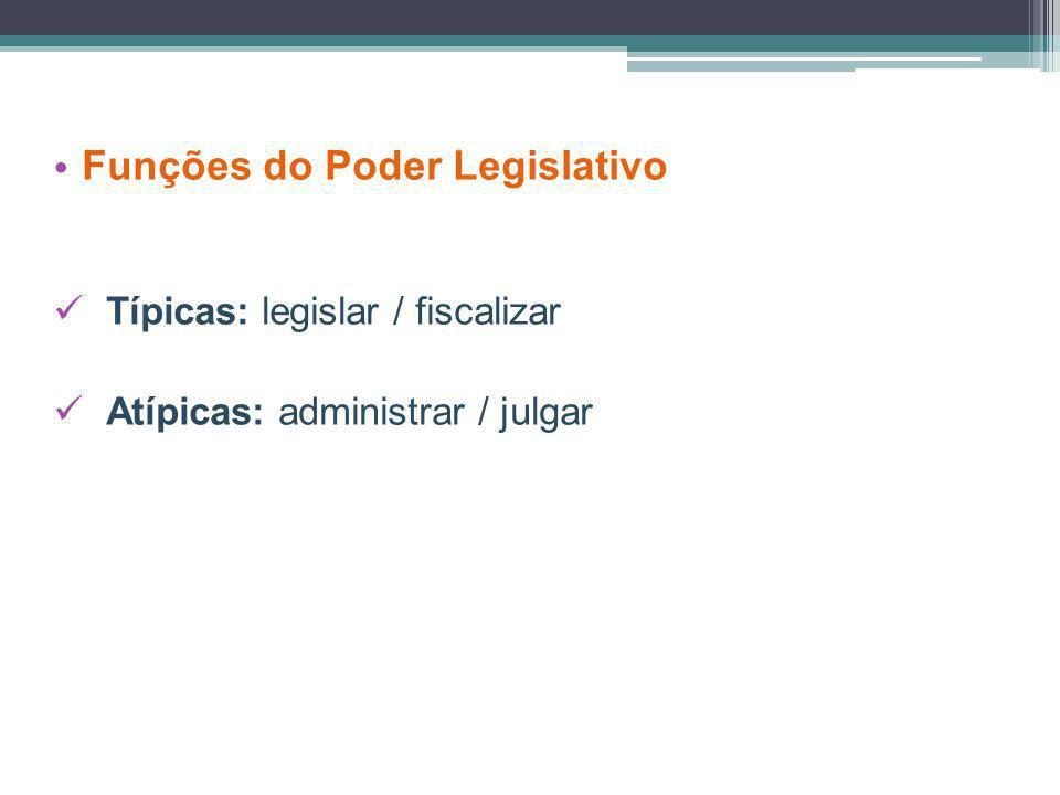 Funções do Poder Legislativo