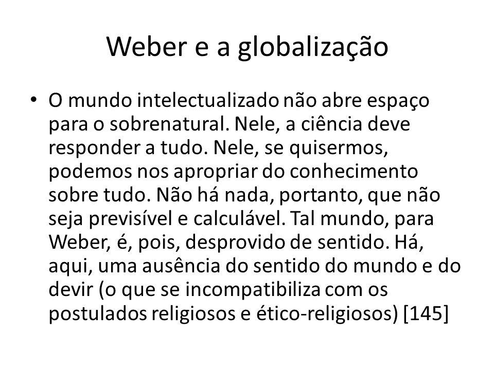 Weber e a globalização