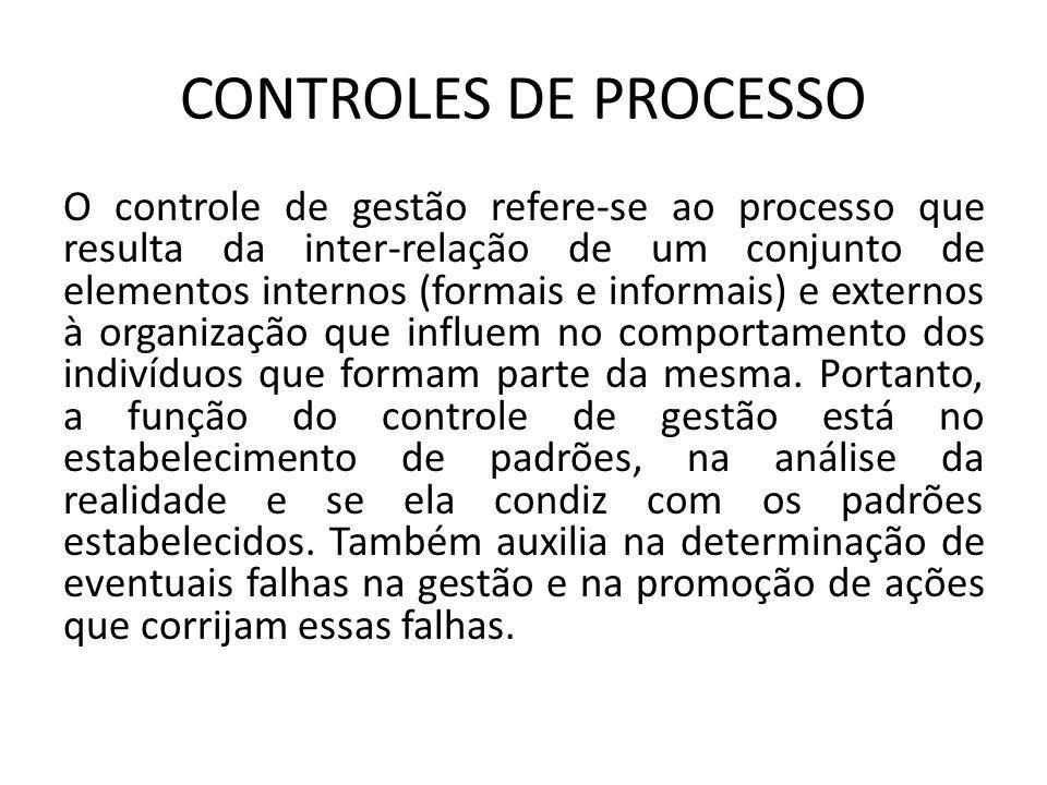CONTROLES DE PROCESSO