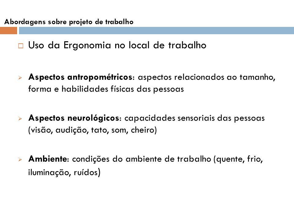 Uso da Ergonomia no local de trabalho