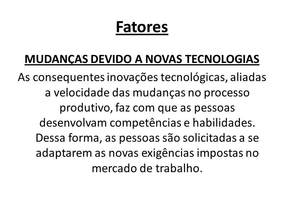 MUDANÇAS DEVIDO A NOVAS TECNOLOGIAS