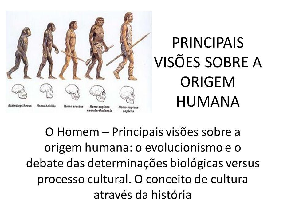 PRINCIPAIS VISÕES SOBRE A ORIGEM HUMANA