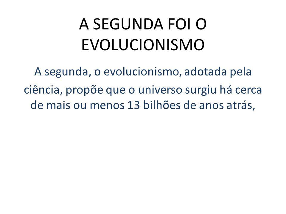 A SEGUNDA FOI O EVOLUCIONISMO