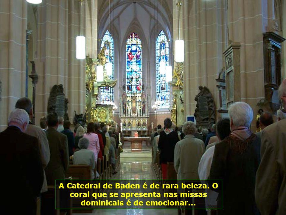 A Catedral de Baden é de rara beleza