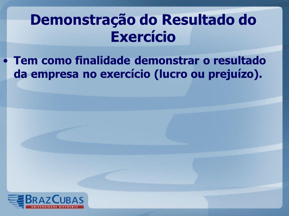 Demonstração do Resultado do Exercício