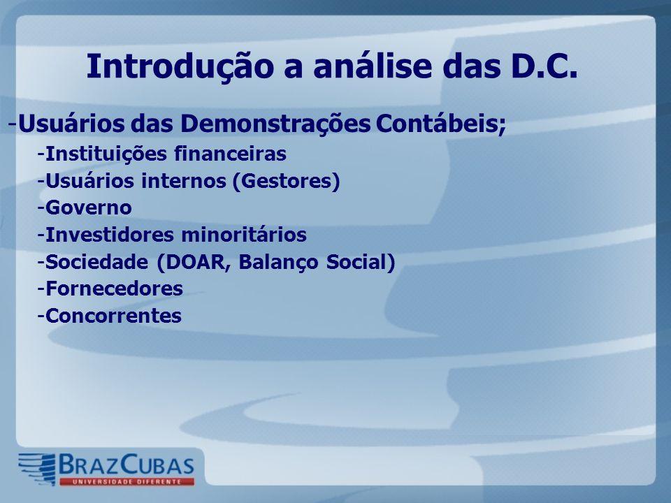 Introdução a análise das D.C.