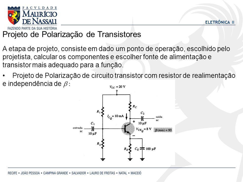 Projeto de Polarização de Transistores