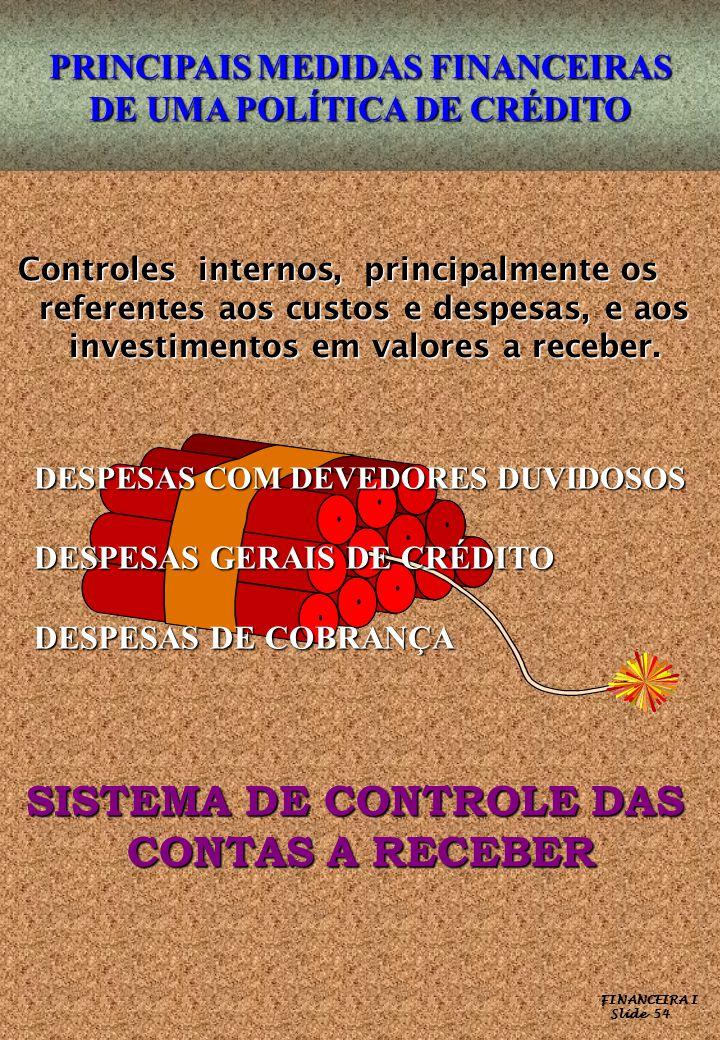 SISTEMA DE CONTROLE DAS CONTAS A RECEBER