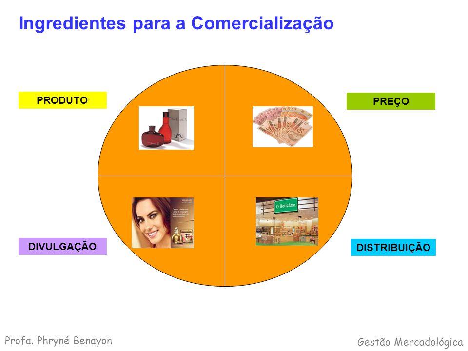 Ingredientes para a Comercialização