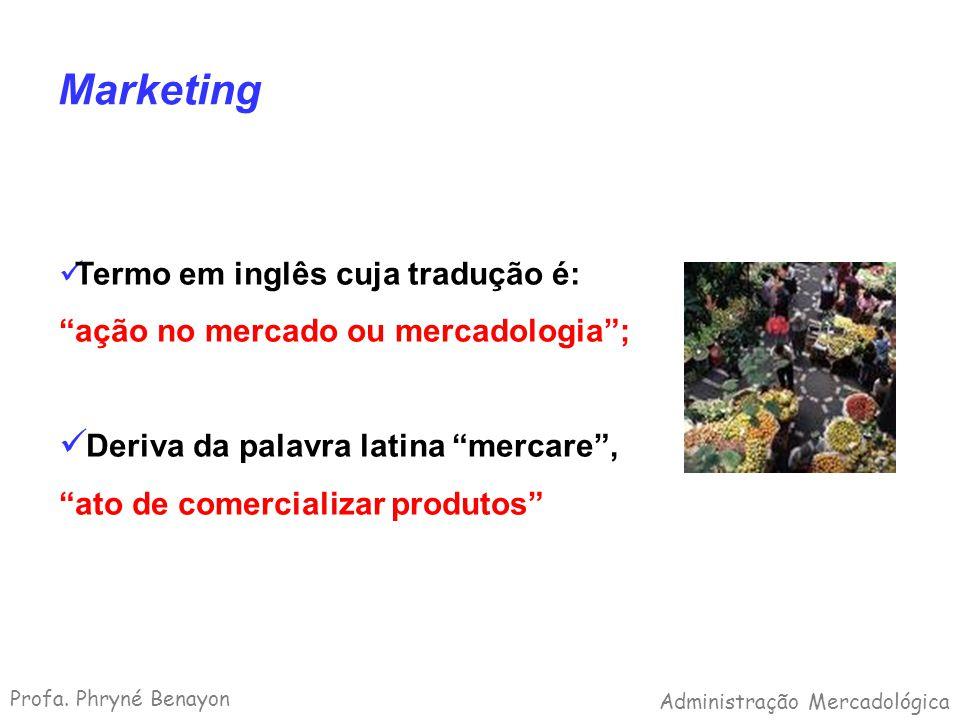 Marketing Termo em inglês cuja tradução é: