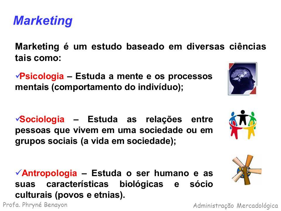 Marketing Marketing é um estudo baseado em diversas ciências tais como: